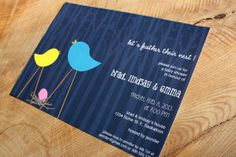 Feather Their Nest  Baby Shower Invite by makeroomdesignshop, $15.00