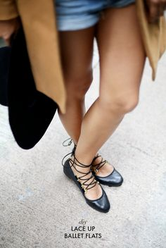 How to make a pair of lace up ballet flats