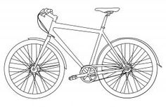 simple bicycle drawing for pattern project Bicycle Drawing, Bicycle Art, Bike Drawing Simple, Drawing Lessons, Art Lessons, Drawing Guide, Drawing For Kids, Art For Kids, Documents D'art