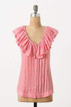 Anthropologie | Blushing Flounced Blouse