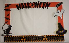 photo frame party prop Halloween by titaspartycreations on Etsy