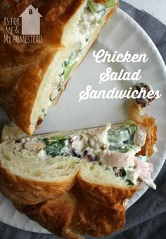 Rotisserie Chicken Salad Sandwiches are one of my go-to recipes when I need an easy dinner.  Full of crunch, a little bit of sweet, and a little salty, these are delicious!