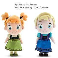 "2014 New Frozen Girl Elsa Anna Plush Doll 30cm 12"" Princess Doll Frozen Plush Toys Brinquedos Kids Dolls for Girls Free Shipping"