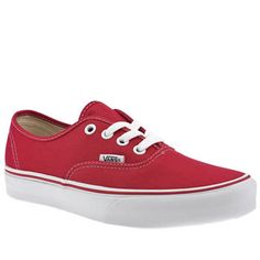 red vans authentic