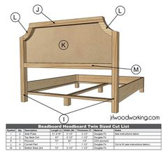 JRL Woodworking | Free Furniture Plans and Woodworking Tips: Furniture Plans: King Size Upholstered Tufted Headboard