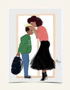 Illustration by illustrator and founder of Maison Nicholle Kobi. Black Love Art, Black Girl Art, My Black Is Beautiful, Art Girl, Black Man, Art Blanc, Black Art Pictures, Black Artwork, Afro Art