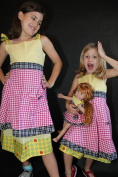 Matching Aprons for Moms, girls and dolls!