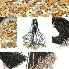 """Wholesale """"YOU FINISH"""" 100 Pcs Wire Wrapped Sharks Teeth Necklaces Shark Tooth #sharktooth #sharksteeth #Surfer #wholesale"""
