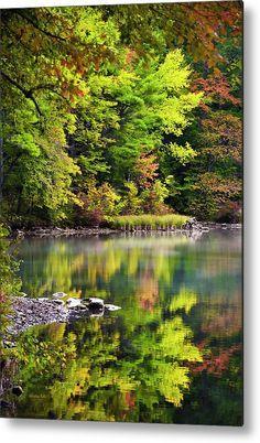 Fall Foliage Metal Print featuring the photograph Fall Foliage Reflection by Christina Rollo