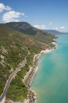 Captain Cook Highway between Cairns and Port Douglas, near Rex Lookout, North Queensland, Australia