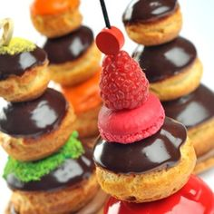 Chocolate, choux, and macaron creations by Christophe Roussel