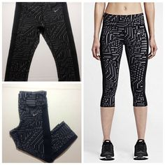 NWT Nike Tight Fit Capri ACCEPTING OFFERS!!. No trades or low ballers. New with tag. Pair with nike sneakers and tank for a complete outfit. These are rare capris. Retail $105 Nike Pants Capris