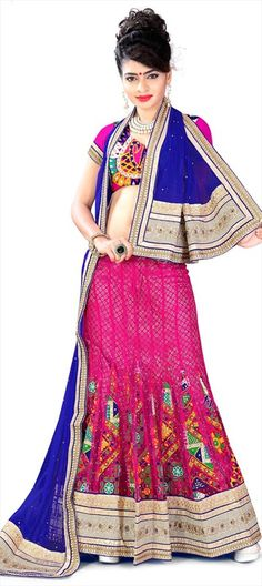 #Tribal Art in Couture for Weddings - Brides, have a look!  #Lehenga #IndianWedding #Embroidery #Lace #PrettyInPink