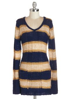 Everyday Enjoyment Sweater. Every time you slip into this striped, open-knit sweater is an oh-so delightful experience. #multi #modcloth