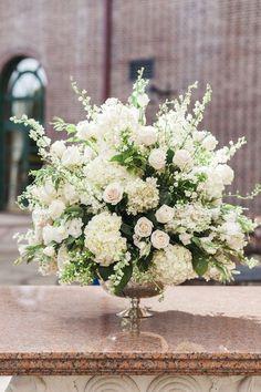 new-york-wedding-14-110615mc Church Wedding Flowers, Altar Flowers, Church Flower Arrangements, Church Wedding Decorations, Wedding Flower Arrangements, Wedding Bouquets, Table Arrangements, Flowers Decoration, Large Floral Arrangements