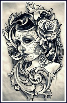 1000 images about catrina on pinterest day of the dead. Black Bedroom Furniture Sets. Home Design Ideas