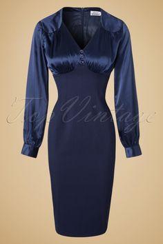 Gerry Roxby Blue Pencil Dress 100 30 11512 20161021 0002W
