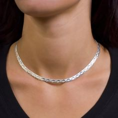 Silver necklace, Ag 925/1000 - sterling Sterling silver chain. With a decorative design of little dolphins jumping over a wave