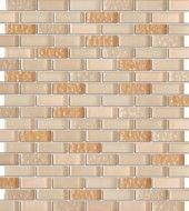 Vintrav Corn Silk 1/2 in. x 2 in. Glass Mosaic Tiles