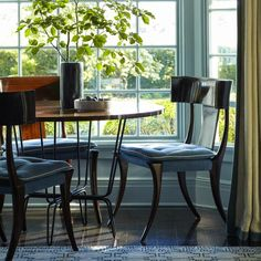Family room - game table by the window | S.R. Gambrel Inc