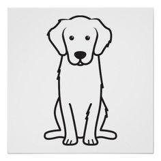 Golden Retriever Dog Cartoon Poster Zazzle Com Cartoon Dog