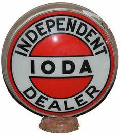 Independent Ioda Dealer gas pump globe