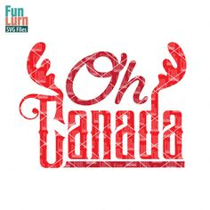 Oh Canada SVG files, DXF EPS PNG and Ai Files for Silhouette Cameo, Cricut etc. Instant off on newsletter subscription Silhouette Design, Silhouette Cameo, Cricut Canada, Canada Day Crafts, Tammy Love, Happy Canada Day, Craft Cutter, Vinyl Projects, Svg File