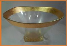 Gold Rimmed Glass Bowl