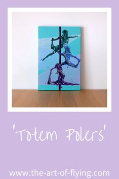 'Totem Polers' is a pole dance resin figure painting on canvas. The trio of aerialists are stacked in three different positions on the pole Resin Paintings, Original Artwork, Original Paintings, Pole Dance, New Artists, Figure Painting, Figurative, Shapes, Canvas