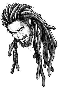 more drawings on behance tattoo ideas art, rasta art, drawings - rasta drawings Lion Drawing, Drawing Sketches, Art Drawings, Zombie Drawings, Hipster Drawings, Rasta Art, Rasta Lion, Hair Reference, Andreas