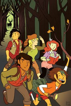 """jessfink: """" I did a cover for Lumberjanes, which is out tomorrow! You can order it at your local shop and see a preview here: http://comicbook.com/blog/2014/04/07/lumberjanes-1-preview-from-boom-studios/ """""""