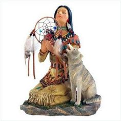 Native American Figurines Wall Decor On Pinterest Indian Decoration Wolves Art And Ebay