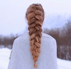 If you loved that two dutch braid with loose loops (that looks like a pancake), here's a variation with just one full dutch braid. You can make bigger loops with this one (and it would look like really good pancakes).
