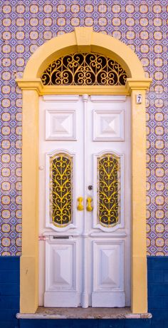 Double White Doors ~ Portugal