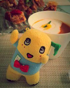 珠子先生お手製スープとふなっしー