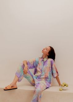 Pink Haley Ceylon set - multi | Garmentory House Dress, Summer Accessories, Summer Trends, Tie Dyed, Trousers Women, Slow Fashion, Everyday Outfits, Lounge Wear, Fitness Models