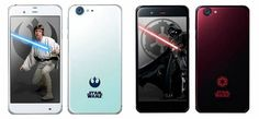 """Just in time for the """"Rogue One"""" release, SoftBank is asking its users to choose their allegiance to the Dark or Light side through its limited-edition Star Wars Sharp smartphones."""