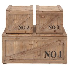 3-Piece Numbered Trunk Set