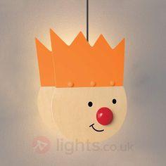 Enchanting orange King's Child hanging light