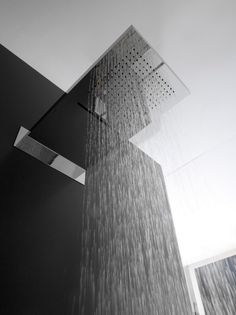 Shiro Shower head with two rain system jets by Zazzeri, design Daniele Bedini _ Amazing Architecture, Interior Architecture, Interior And Exterior, Ceiling Mounted Shower Head, Portugal, Gadgets, Shower Heads, Modern Bathroom, Decoration