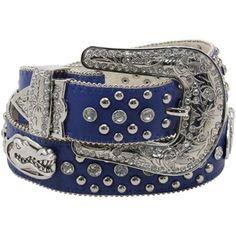 Florida Gators Ladies Glitz Leather Belt - Royal Blue