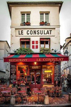 Restaurang när hotellet Montmartre, Paris
