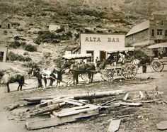 Stage bound for Salt Lake outside the Alta Bar in Alta, Utah, 1904. (Photo Courtesy Utah Historical Society)