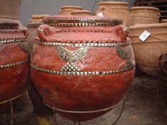 Slimane; Sahara Pot; € 277,40 .- Buddha, Container, Vase, Paris, Home Decor, Terracotta, Morocco, Montmartre Paris, Decoration Home