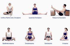B K S Iyengar - Iyengar Yoga - Asanas - Sitting Asanas