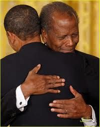 President Obama and Sidney Poitier ~ First African American to win an Academy Award ~ First African American President