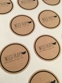 Custom Round Kraft Stickers | Product Labels | Logo stickers  Make your custom sticker today!  www.vvixci.com