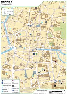 AixenProvence city center map Maps Pinterest Aix en provence