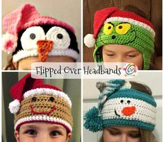 Crochet pattern pack. Instructions to make all variations shown in bands adjustable to fit children to adult.
