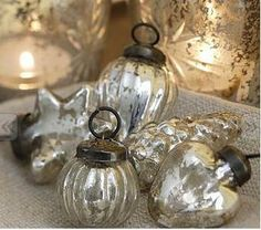 love these vintage looking ornaments